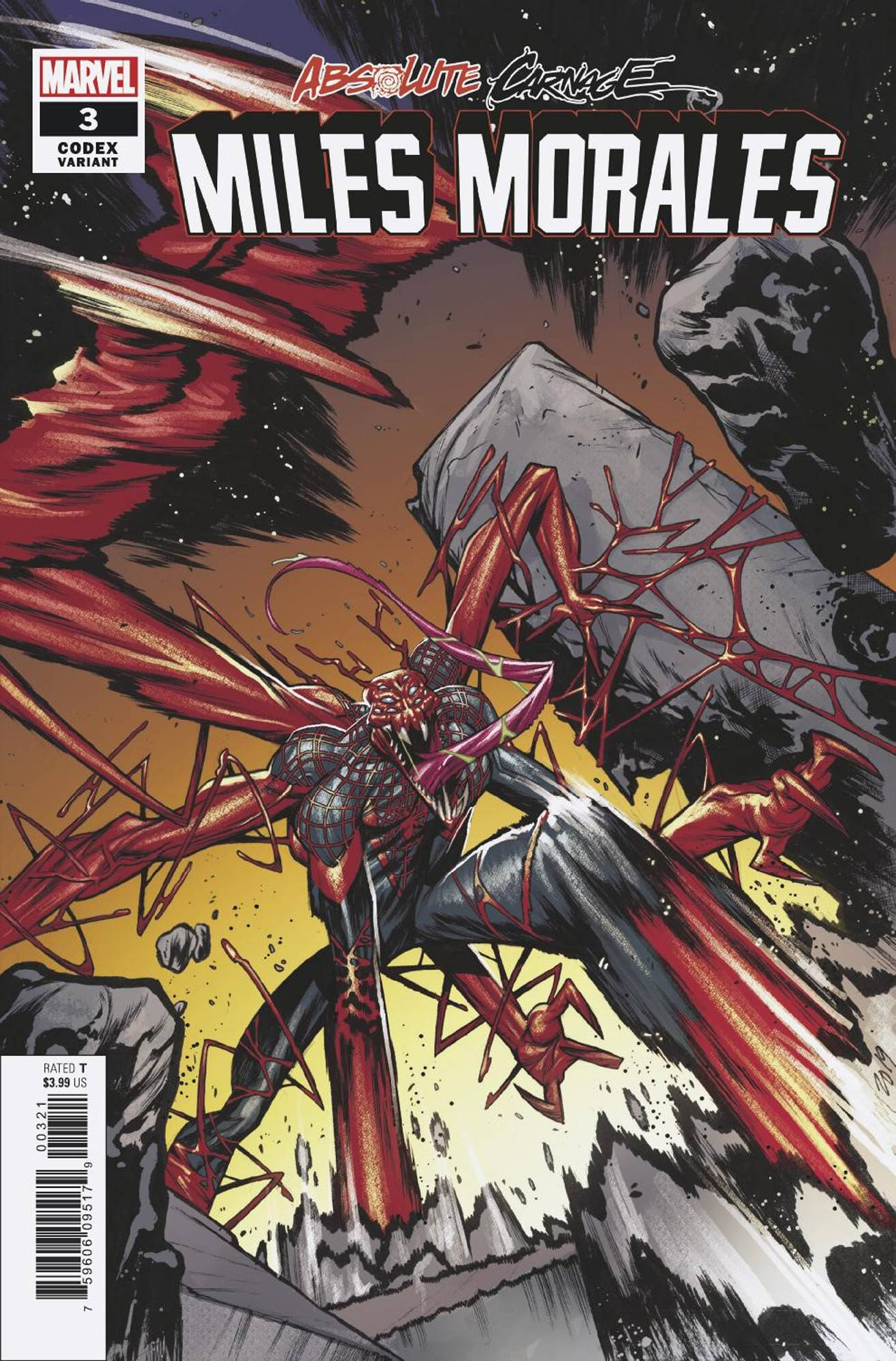10/09/2019 ABSOLUTE CARNAGE MILES MORALES #3 (OF 3) JACINTO 1:25 CODEX VARIANT