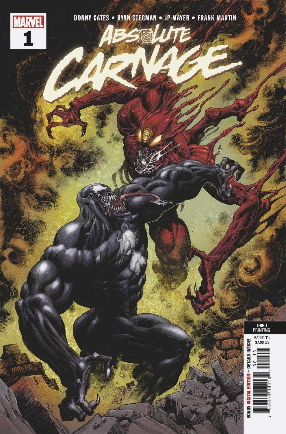08/28/2019 ABSOLUTE CARNAGE #1 (OF 5) 3RD PTG NEW ART VAR AC