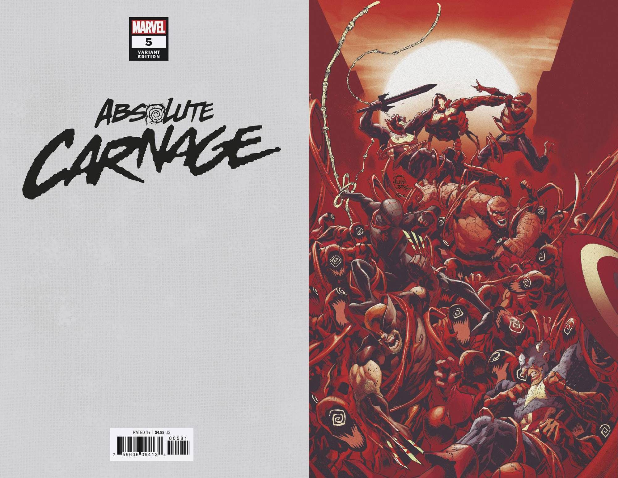 11/20/2019 ABSOLUTE CARNAGE #5 (OF 5) STEGMAN 1:100 VIRGIN VARIANT