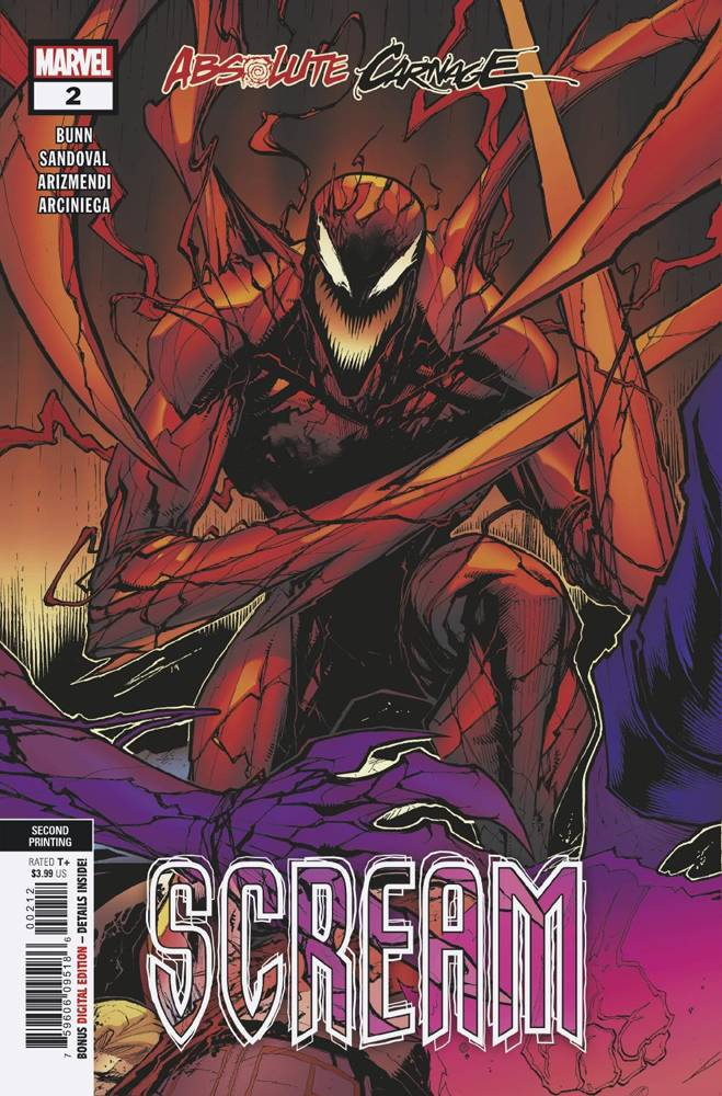 10/09/2019 ABSOLUTE CARNAGE SCREAM #2 (OF 3) SANDOVAL 2ND PRINT VARIANT