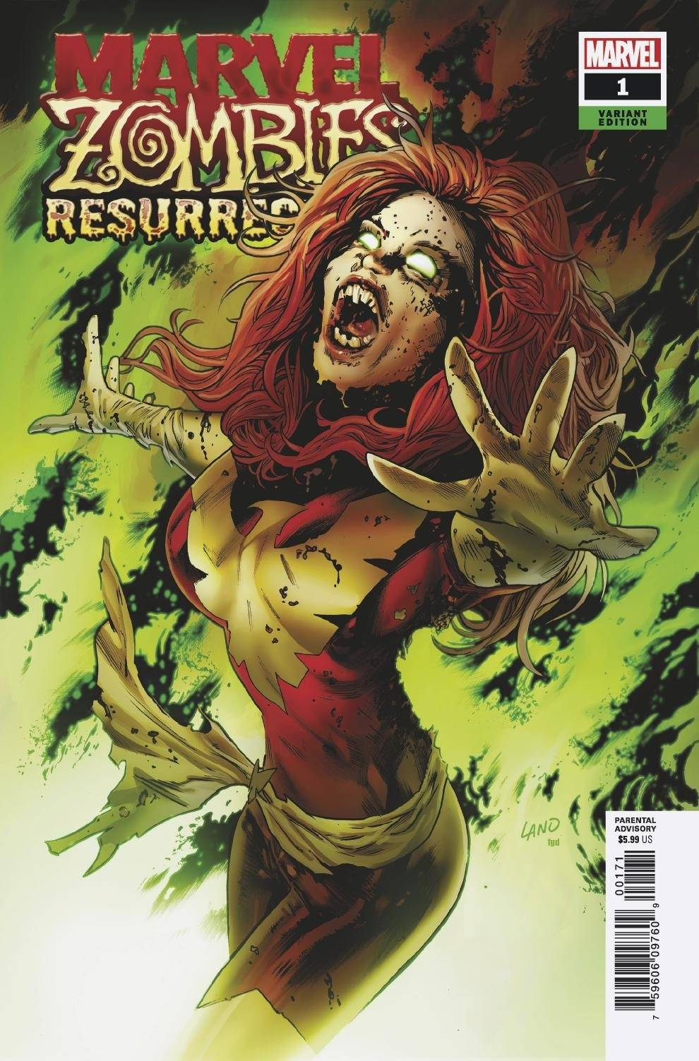 04/29/2020 MARVEL ZOMBIES RESURRECTION #1 (OF 4) LAND VARIANT (NEW RELEASE 09/02/2020)