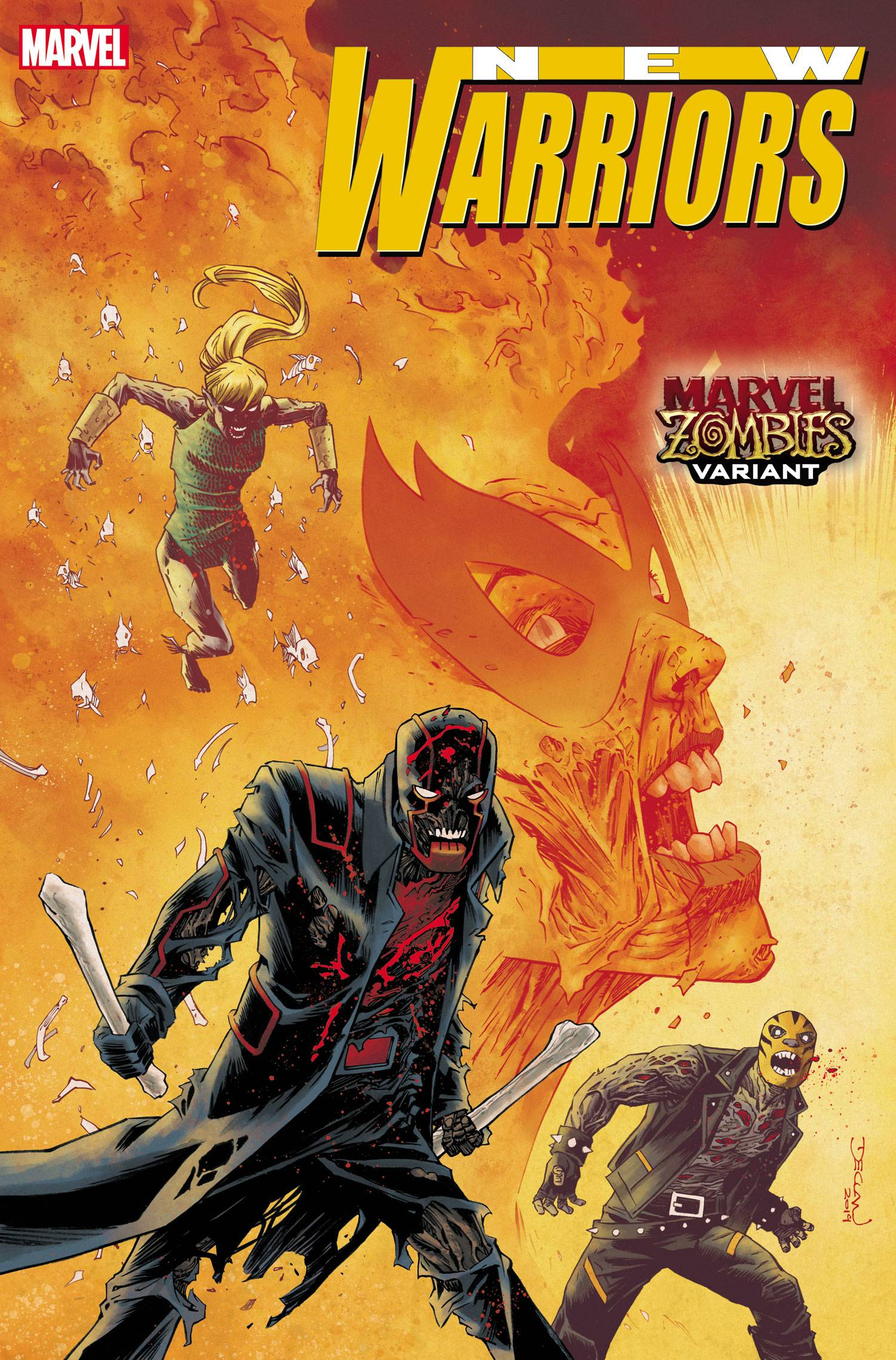 04/15/2020 NEW WARRIORS #1 (OF 5) SHALVEY MARVEL ZOMBIES VAR OUT