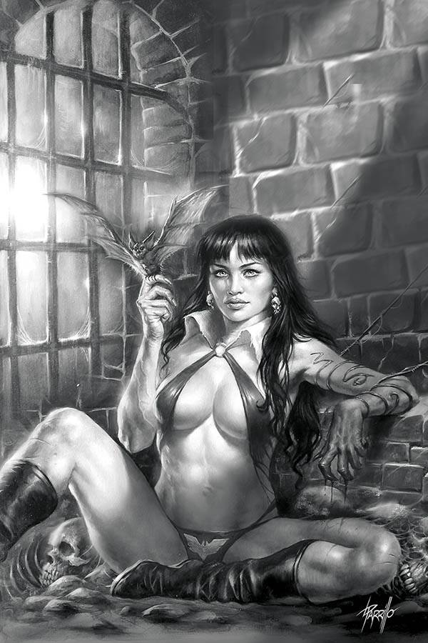 05/20/2020 VAMPIRELLA #11 PARRILLO VIRGIN B&W 1:50 VARIANT (NEW RELEASE 07/15/2020)