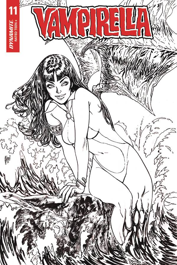 05/20/2020 VAMPIRELLA #11 MARCH 1:35 B&W VARIANT (NEW RELEASE 07/15/2020)