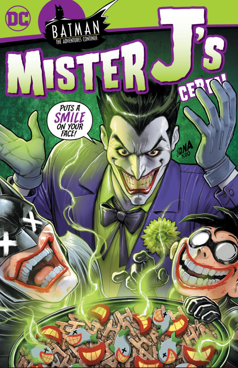 06/03/2020 BATMAN THE ADVENTURES CONTINUE #2 SSCO Mister J's Joker Cereal Box Cover DAVID NAKAYAMA VARIANT (NEW RELEASE 07/08/2020)