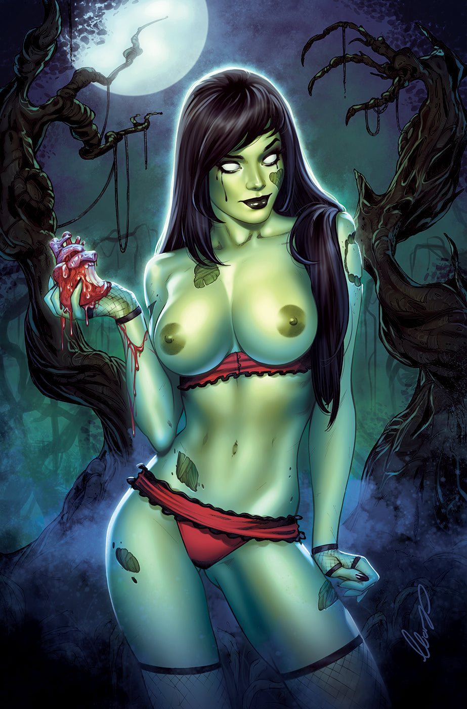 07/18/2018 ZOMBIE TRAMP #50 SSCO EXCLUSIVE ELIAS CHATZOUDIS RISQUE VIRGIN VARIANT (NOT NEAR MINT)