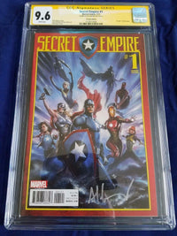 9.6 CGC Signature Series Secret Empire #1 Signed Adi Granov 1:25 Variant Marvel