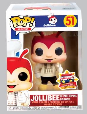 06/13/2019 JOLLIBEE IN BARONG #51 PHILIPPINE INDEPENDENCE DAY EXCLUSIVE FUNKO POP