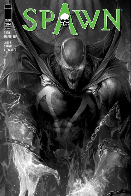 04/04/2018 SPAWN #284 COVER B B&W MATTINA