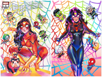 03/18/2020 SPIDER-WOMAN #1 SSCO RIAN GONZALES TRADE DRESS + VIRGIN SET