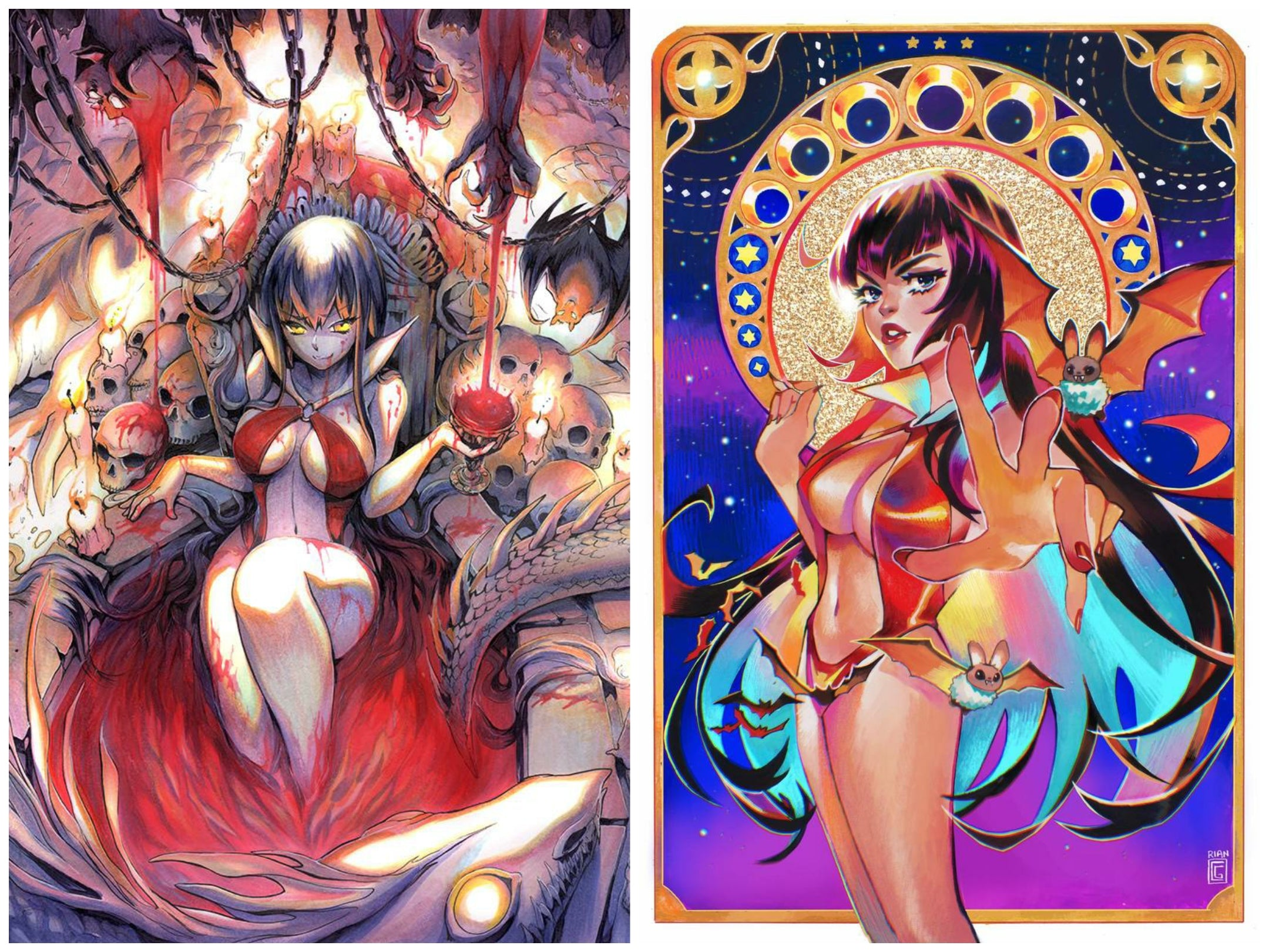 12/09/2020 VAMPIRELLA #16 & VAMPIRELLA DARK POWERS #1 SSCO VARIANT SET (NEW RELEASE 12/16/2020)