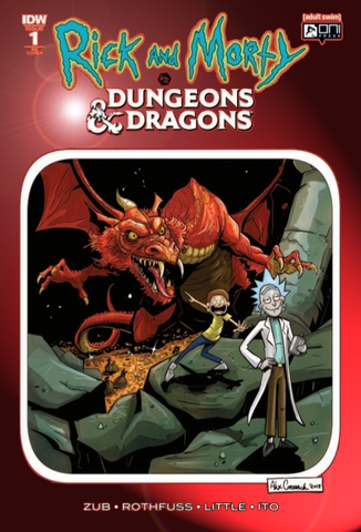 Rick & Morty Dungeons and Dragons #1 KRS Exclusive Chromium Variant 2018