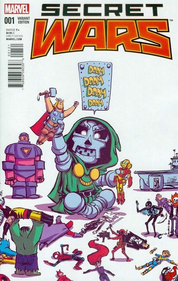 SECRET WARS #1 (OF 8) SKOTTIE YOUNG VARIANT 2015