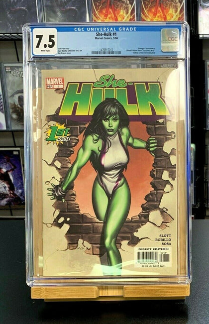 7.5 CGC She-Hulk #1 Granov Marvel Comics 2004