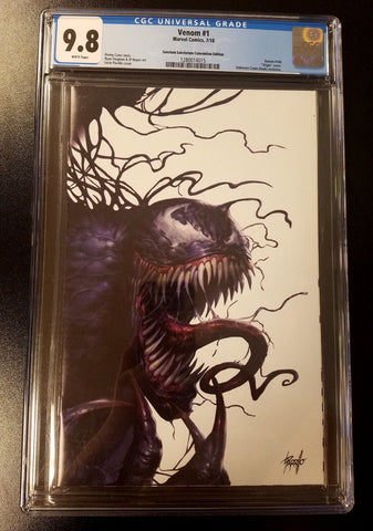 9.8 CGC Venom #1 Sanctum Sanctorum Parrillo Convention Exclusive Virgin Variant Marvel Comics 2018