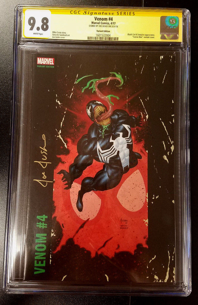 9.8 CGC SS Venom #4 Corner Box Variant Signed Joe Jusko Marvel Comics 2018