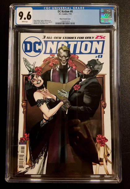 9.6 CGC DC Nation #0 1:250 Clay Mann Variant Batman Catwoman Comics 2018