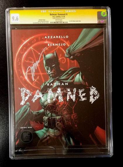 9.6 CGC SS Batman Damned #1 Variant Black Label Signed by Jim Lee DC Comics 2018