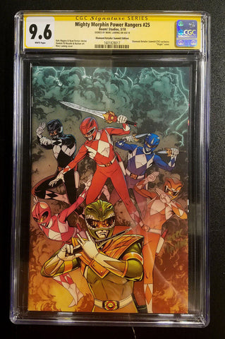 9.6 CGC SS Mighty Morphin Power Rangers #25 C2E2 Variant SIGNED Mark Laming Comics 2018