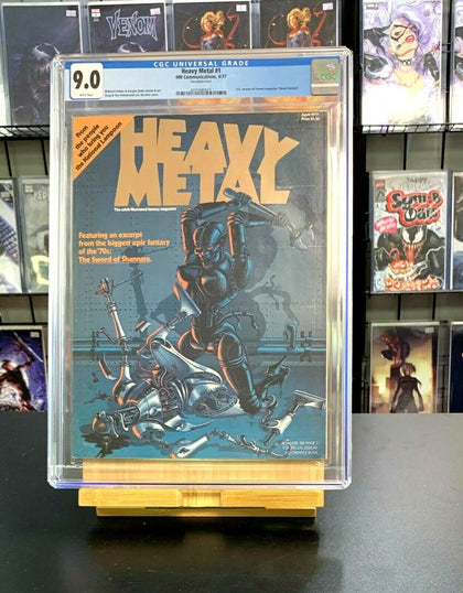 9.0 CGC Heavy Metal #1 HM Communications Subscription Insert 1977