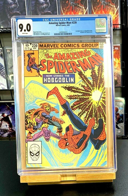 9.0 CGC Amazing Spider-Man #239 1st Spider-Man Hobgoblin Battle Comics 1983