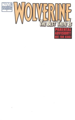 WOLVERINE BEST THERE IS #1 BLANK VARIANT 2010