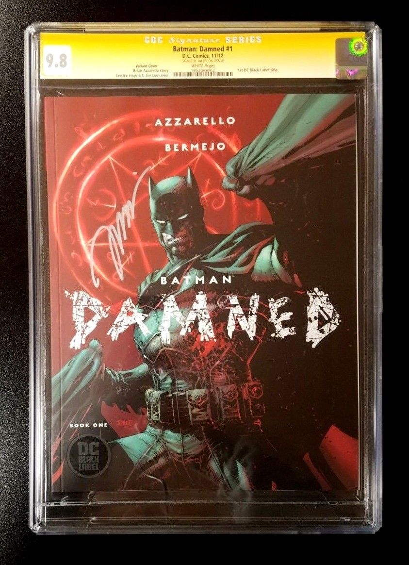 9.8 CGC SS Batman Damned #1 Variant Black Label Signed by Jim Lee DC Comics 2018