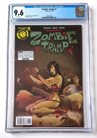 9.6 CGC Zombie Tramp #1 2014 Dan Mendoza Action Lab Comics