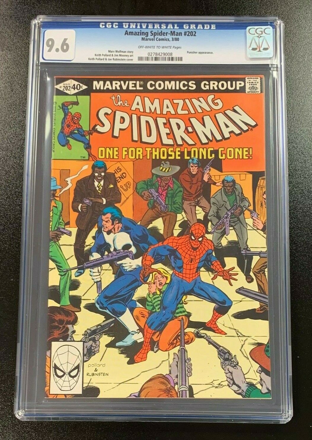 9.6 CGC Amazing Spider-Man #202 1980