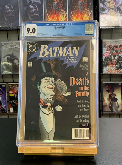 9.0 CGC Batman #429 Death in Family Part 4 Storyline Newsstand DC Comics 1989