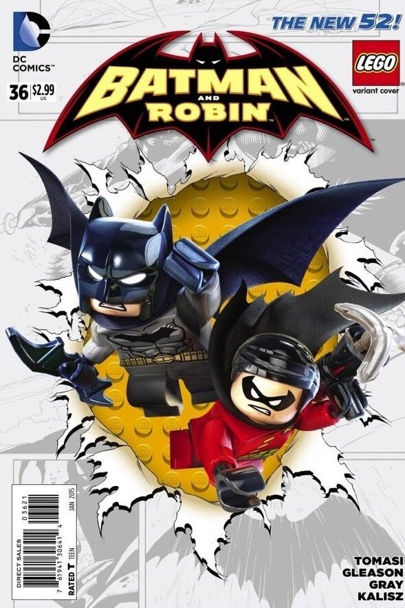 BATMAN AND ROBIN #36 LEGO VARIANT 2014