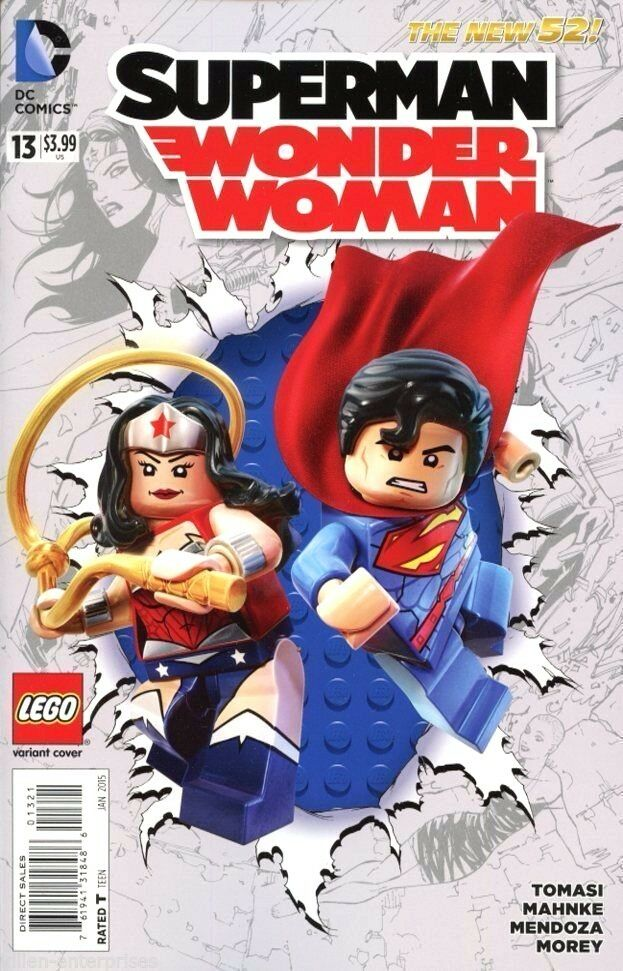 SUPERMAN WONDER WOMAN #13 LEGO VARIANT 2014
