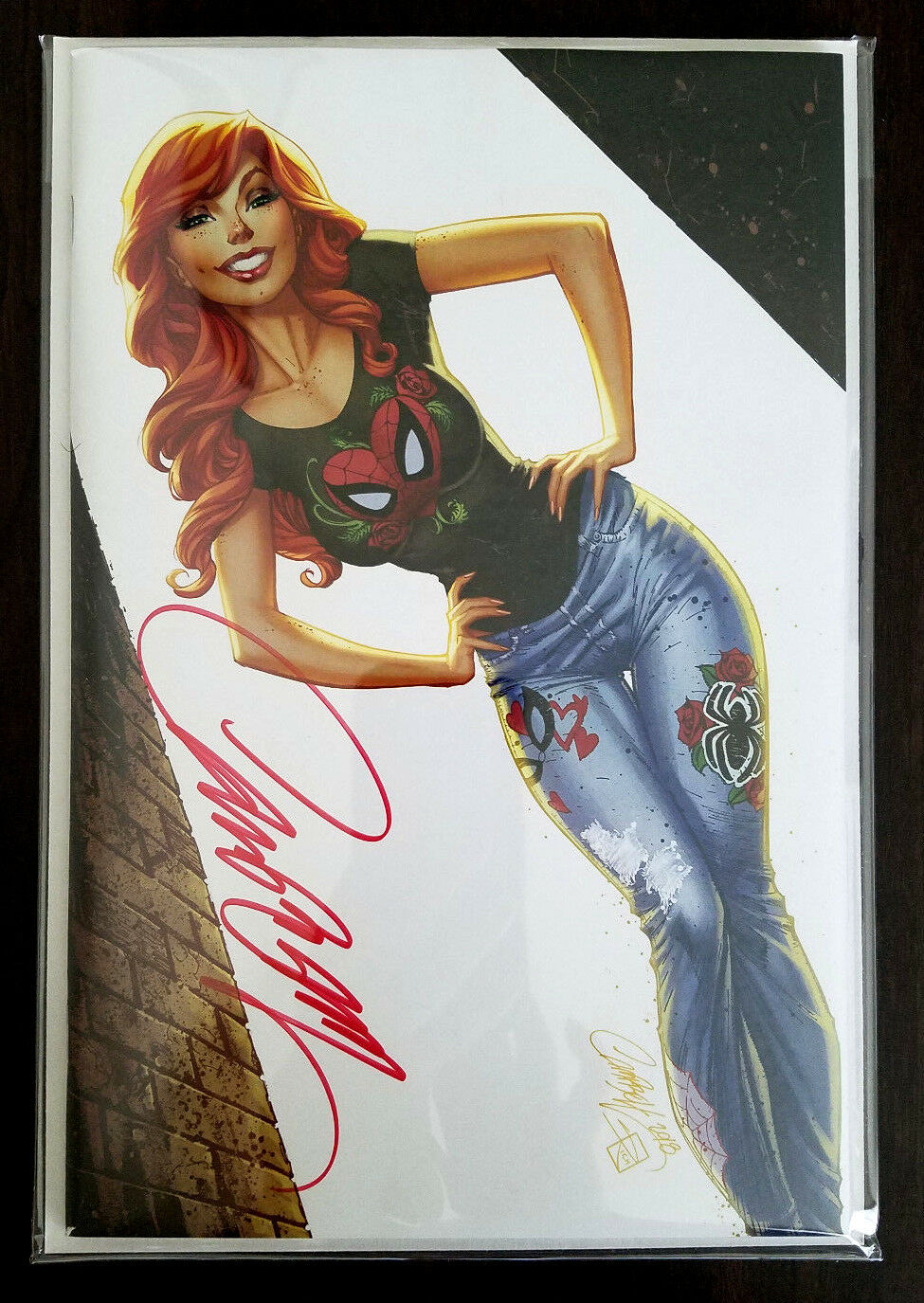 SDCC Amazing Spider-Man #800 Virgin Mary Jane SIGNED J Scott Campbell Variant 2018