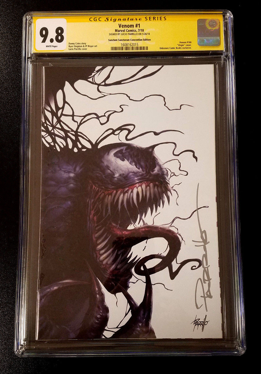 9.8 CGC Signature Series Venom #1 Convention Exclusive Variant Signed Parrillo Marvel Comics