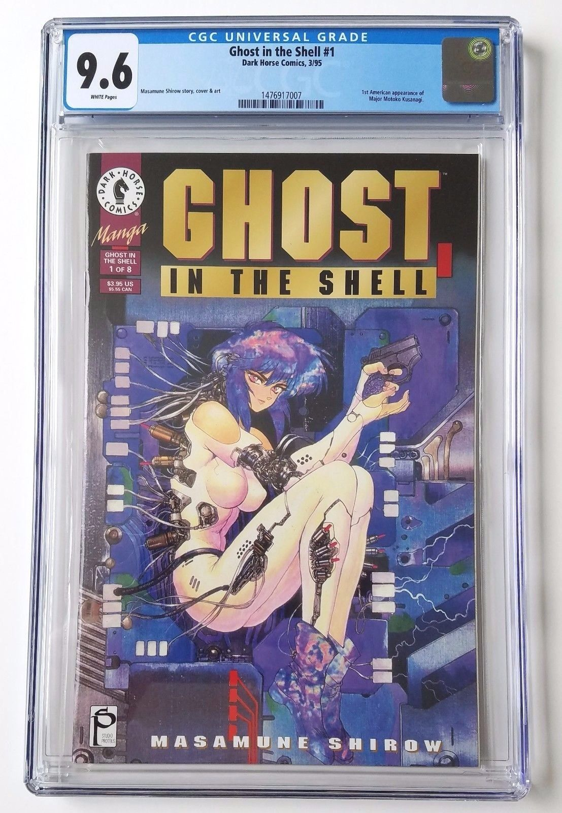 9.6 NEW CGC Ghost in the Shell #1 1st American Appearance Dark Horse 1995