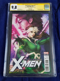 9.8 CGC Signature Series Astonishing X-men #1 Signed Artgerm Lau 1:100 Variant
