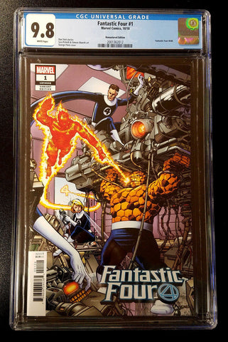 9.8 CGC Fantastic Four #1 1:500 Remastered Variant Marvel Comics 2018