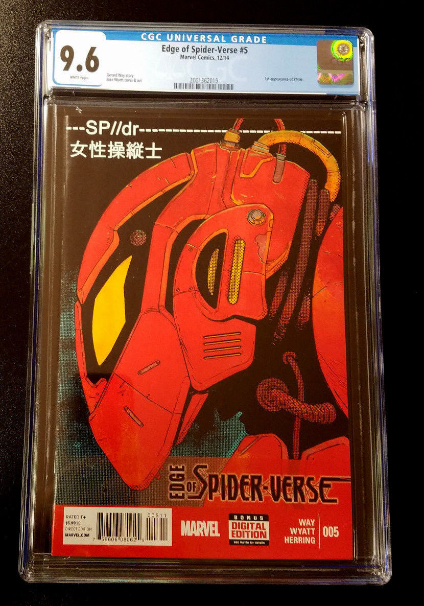9.6 CGC Edge of Spider-Verse #5 1st Peni Parker SP//dr Marvel Comics 2014