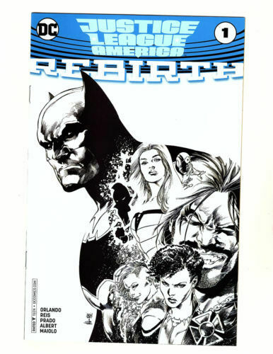 JUSTICE LEAGUE OF AMERICA REBIRTH #1 B&W DIAMOND RETAILER SUMMIT 2017