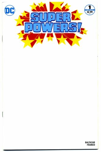SUPER POWERS #1 BLANK VARIANT 2016