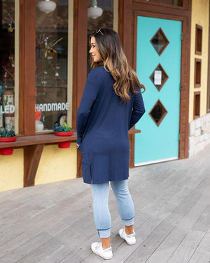 Grace & Lace | Casual Day Modal Cardigan | Navy