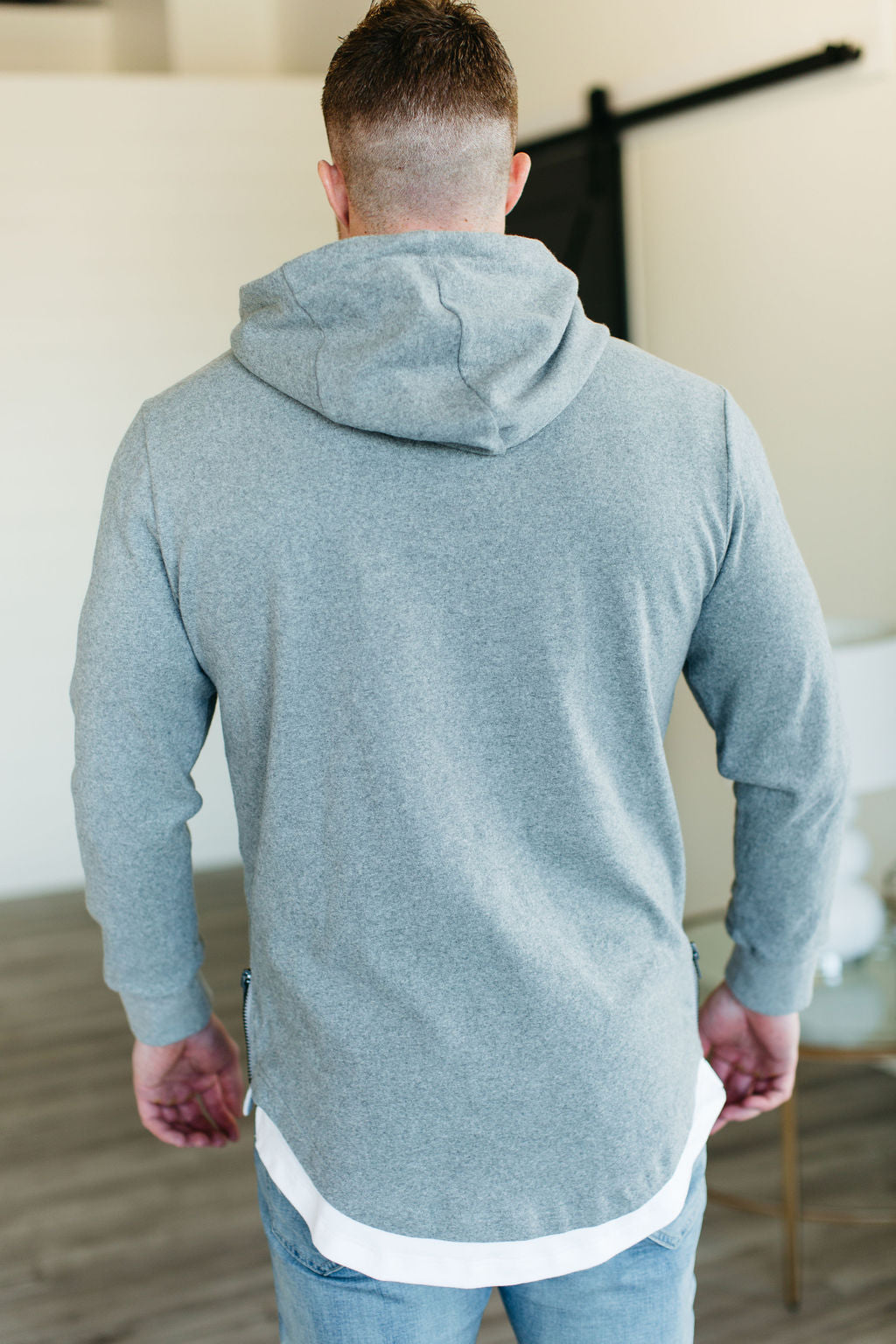 MENS Ampersand Ave Domination Layered Hoodie - Grey