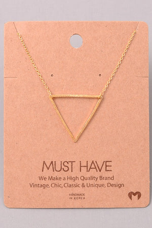 Dainty Necklace - Gold Triangle