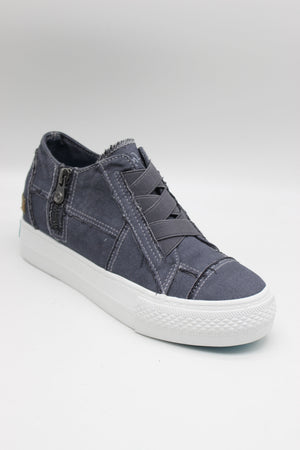 *FINAL SALE* Blowfish Mamba |Wedge Sneaker| BlueTuna Colour Washed Canvas