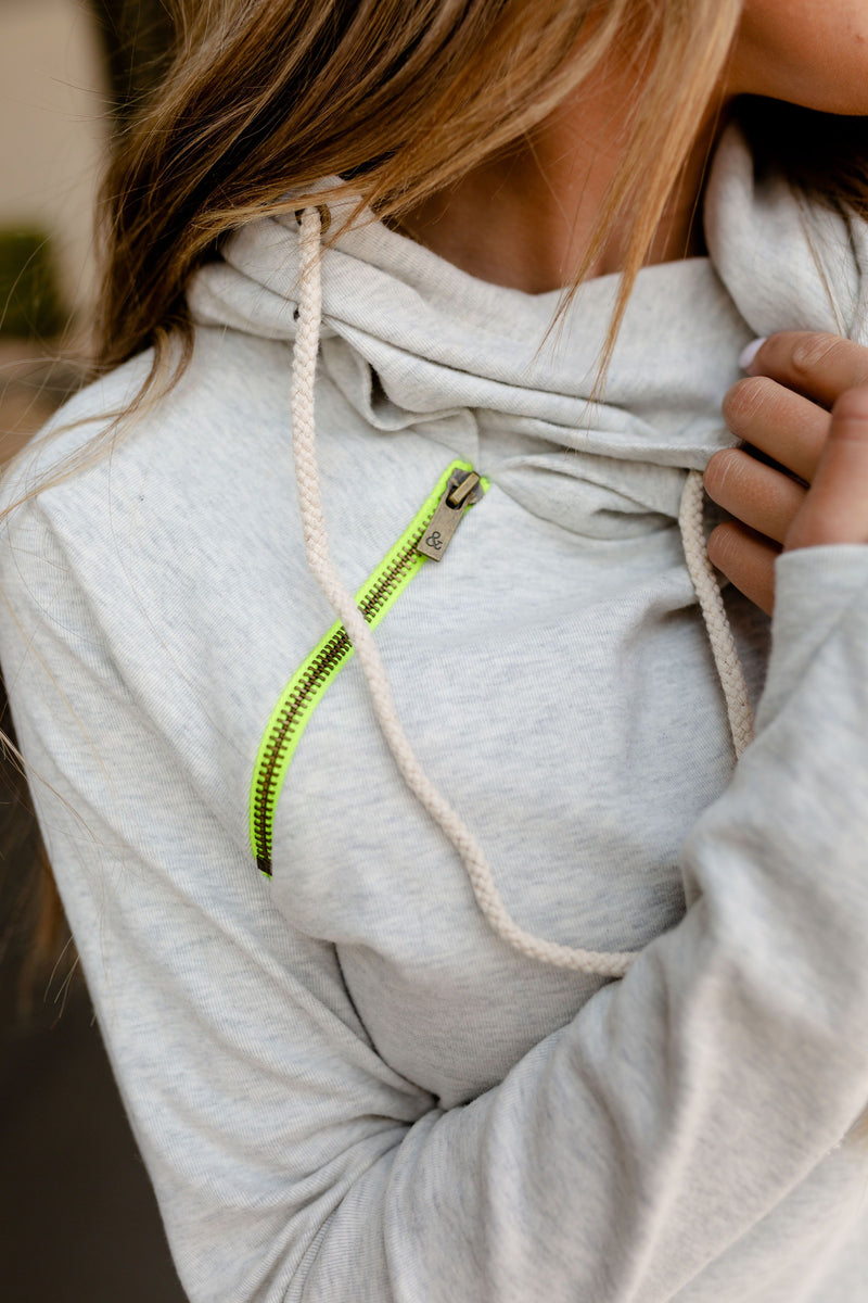 Ampersand BASIC DoubleHood Sweatshirt | Hint of Lime