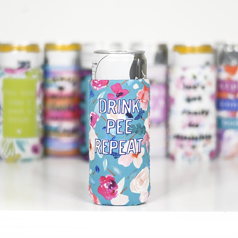 Drink Pee Repeat | Slim Can Cooler