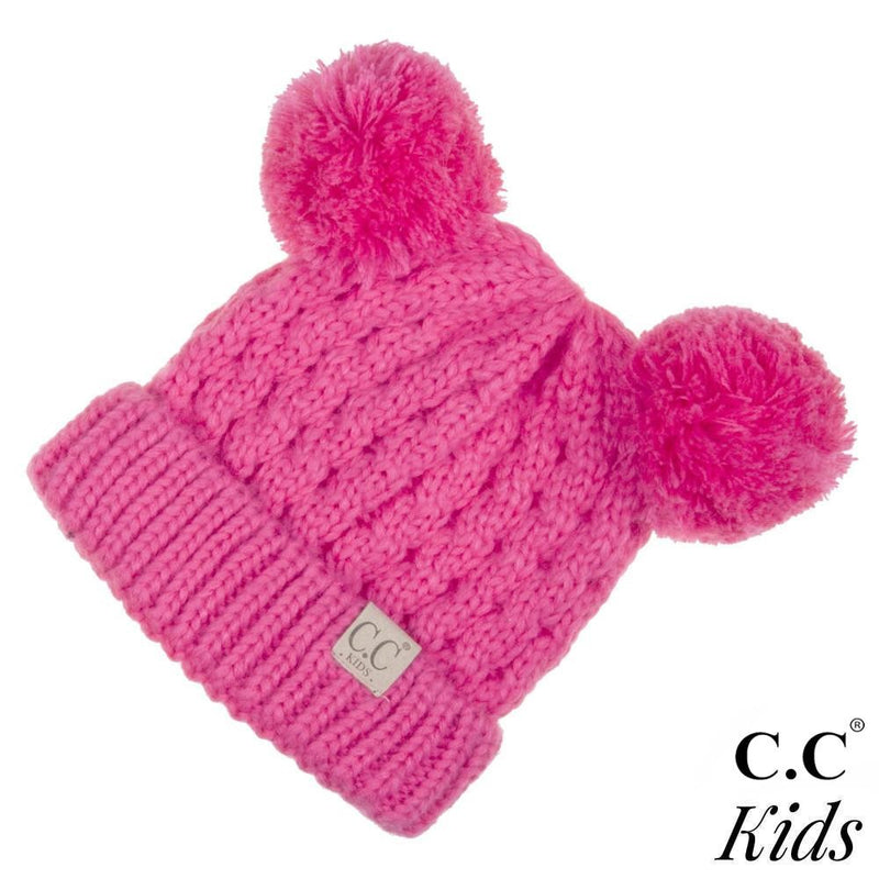 KIDS CC Pom Beanie - Hot Pink