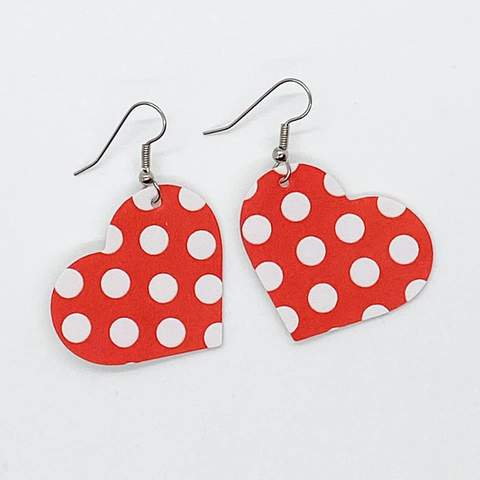 Itty Bitty Hearts - Red & White Polka Dot - Small - 212