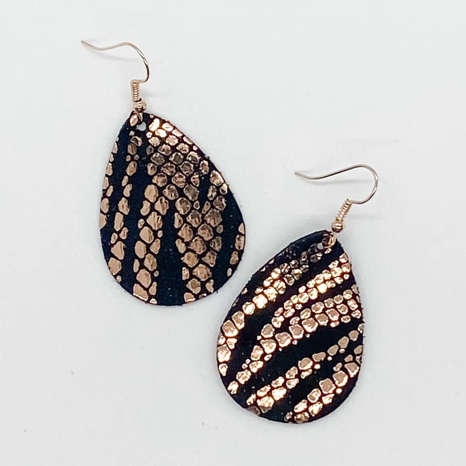 Itty Bitties - Metallic Rose Gold & Black Zebra - Small - 200