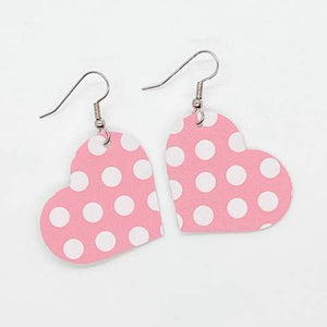 Itty Bitty Hearts - Pink & White Polka Dot - Small - 211
